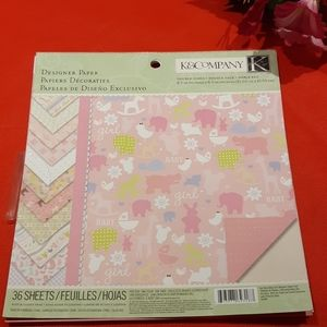 K&Company Itsy Bitsy Baby Girl Designer Paper Pad